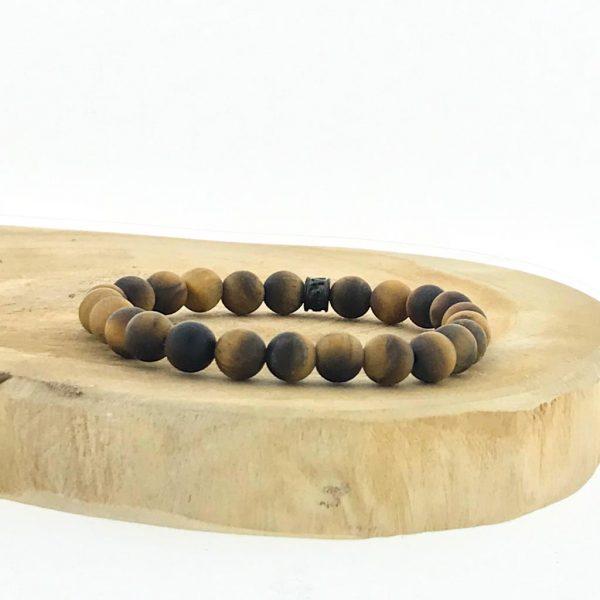 armband-bracelet-tijgeroog-mat-tigerseye-matt