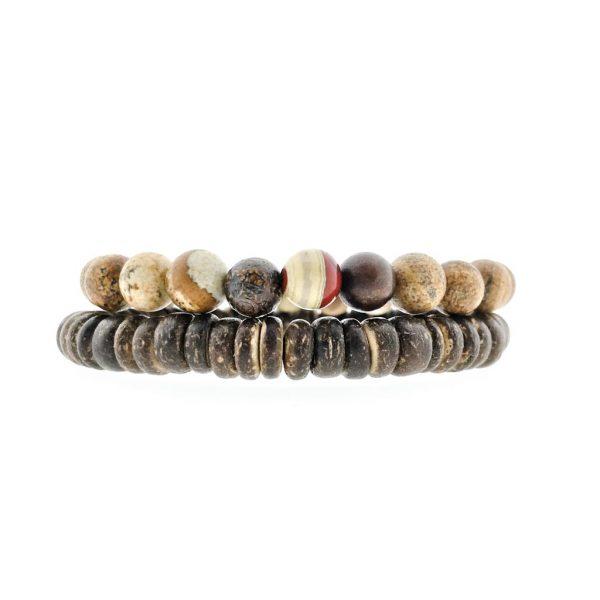 armband-combo-bracelet-jasper-picture-red-rood-jaspis-kokos-men