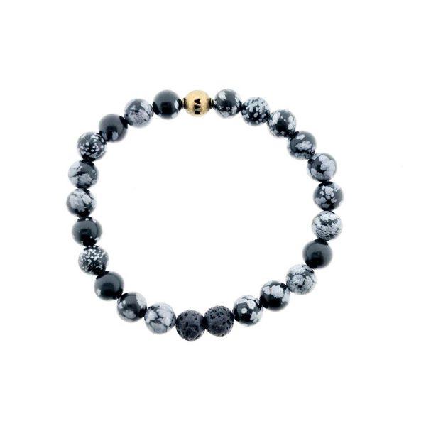 armband-sneeuwvlok-obsidaan-bracelet-snowflake-obsidian