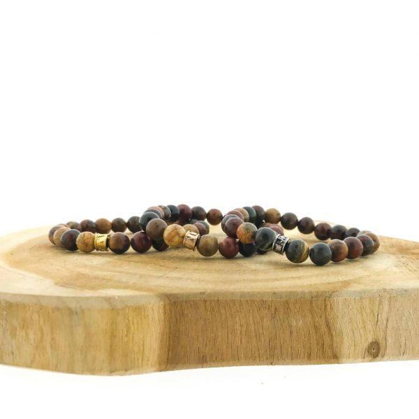 combo-3-armbanden-bracelets-pikasso-jasper-jaspis-silver-rose-gold