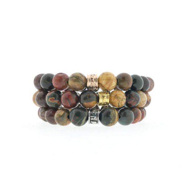 combo-3-bracelets-armbanden-pikasso-jasper-jaspis-gold-silver-rosé