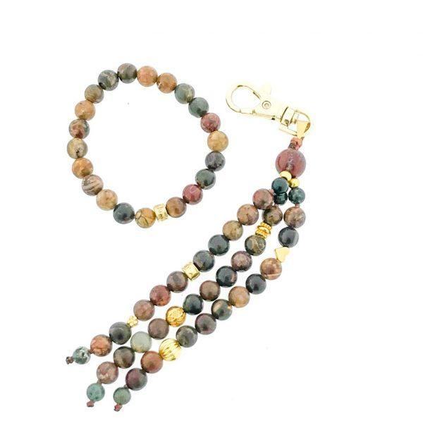 combo-keychain-gold-bracelet-armband-pikasso