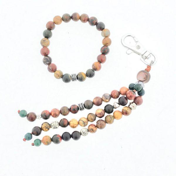 combo-keychain-silver-zilver-pikasso-jaspis-jasper-armband-bracelet
