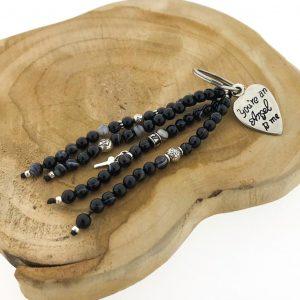 keychain-black-banded-agate-zwart-gestreept-agaat-6mm