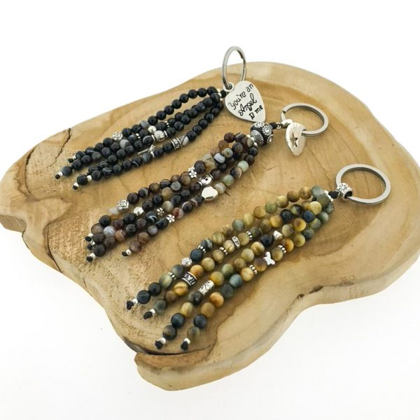 keychains-6-sleutelhangers-6mm-catseye-agate-kattenoog-agaat-brown-banded-black-charms-bedels