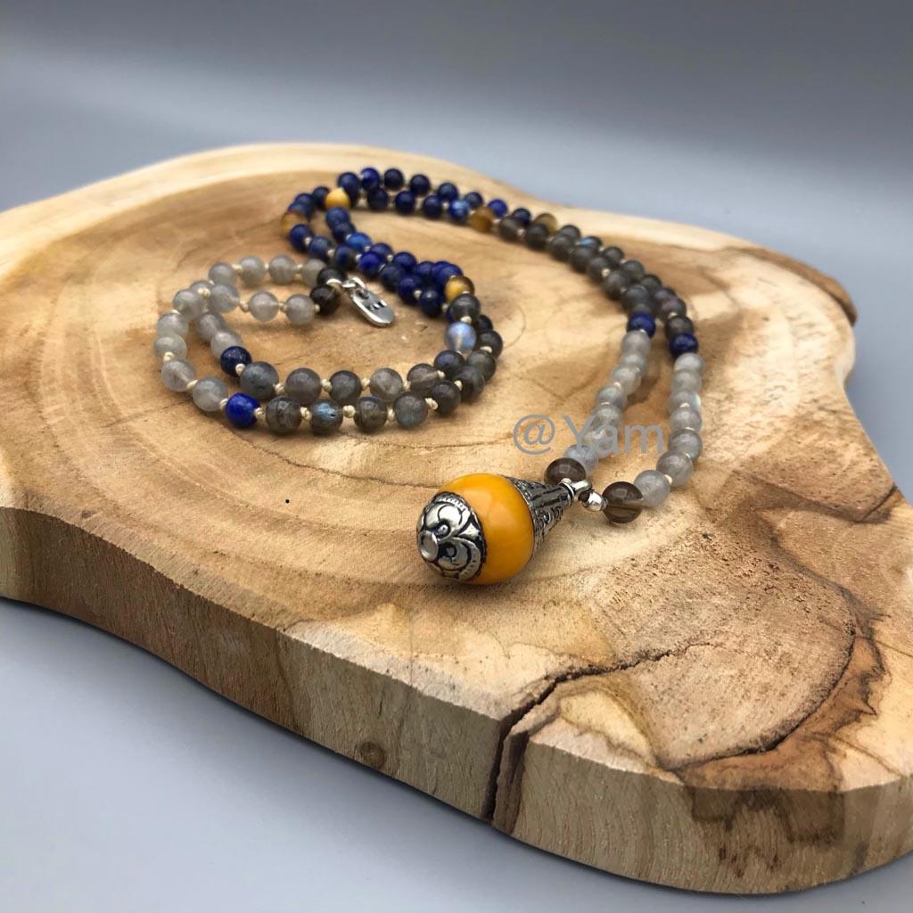 108 Mala custom made with Tibetan pendant