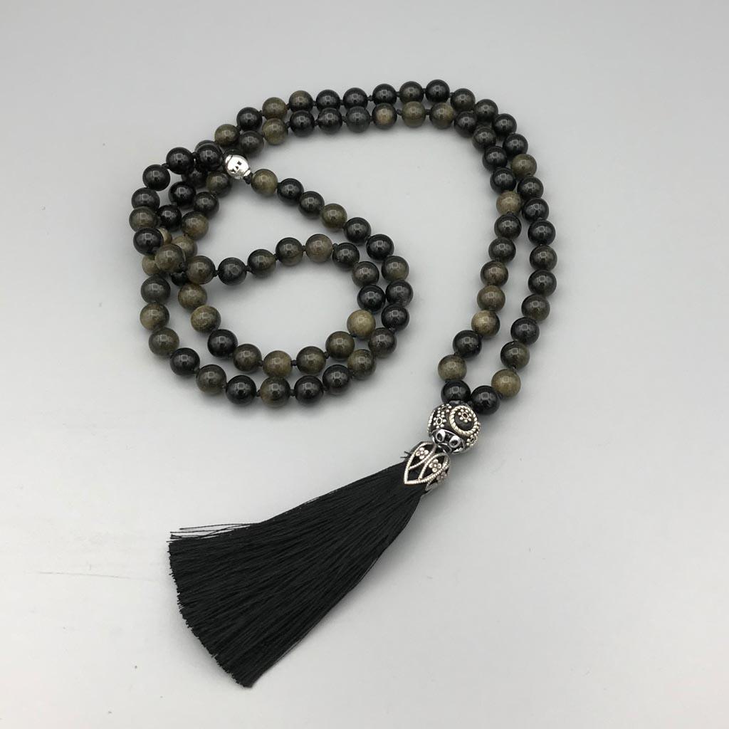 Necklace Custom made Obsidian