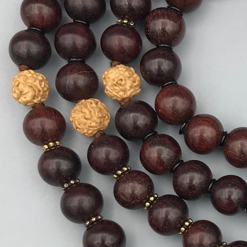 108 Mala Custom made Rudraksha & sandalwood