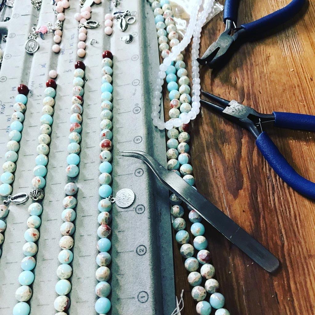 making of custom made bracelets