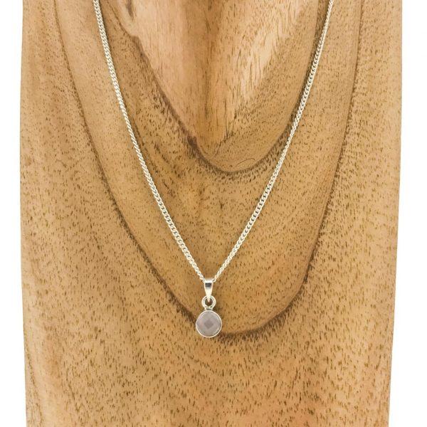 necklace-pendant-geslepen-rozenkwarts-faceted-rosequartz-sterling-silver-halsketting-hanger