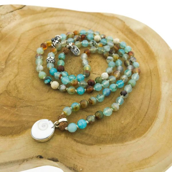 108-mala-geslepen-agaat-faceted-agate-shiva-shell
