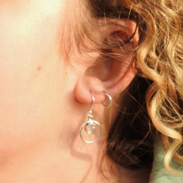 earrings-model-rozenkwarts-rosequartz-circle-sterling-silver-925-yamjewels