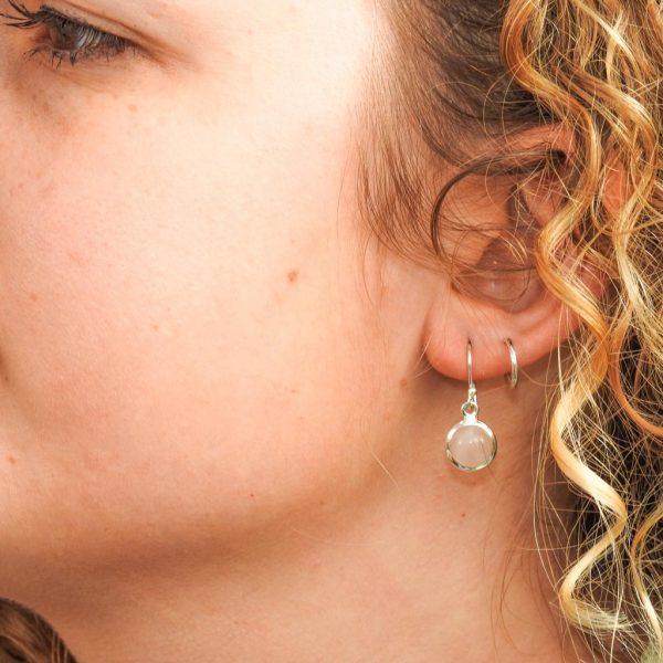 oorringen-model-earrings-rosequartz-rozenkwarts-yamjewels