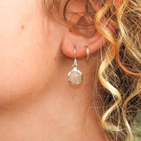 oorringen-model-earrings-rozenkwarts-rosequartz-yamjewels