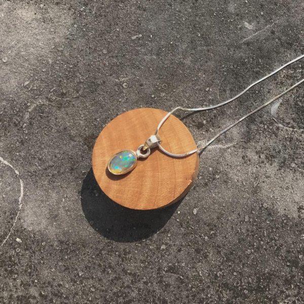 Pendant-hanger-opal-opaal-sterling-silver-925-yamjewels