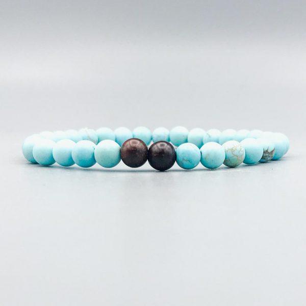 Matt-Howliet-turkoois&sandelhout-armband-bracelet